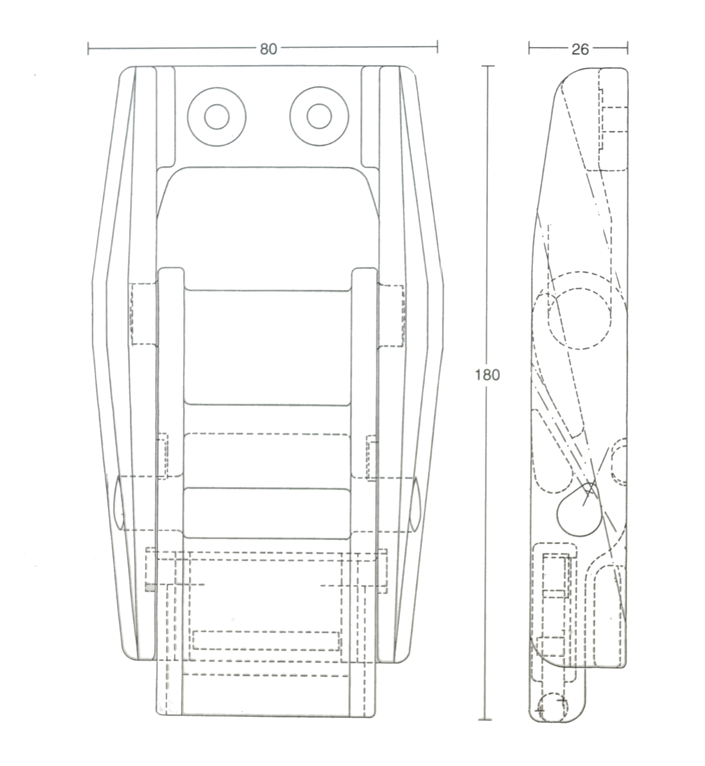 Image Eurobuckle Technical Drawing